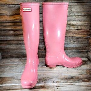 Hunter Original Tall Pink Gloss Rubber Boots
